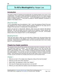 worksheet. To Kill A Mockingbird Worksheet Answers ...