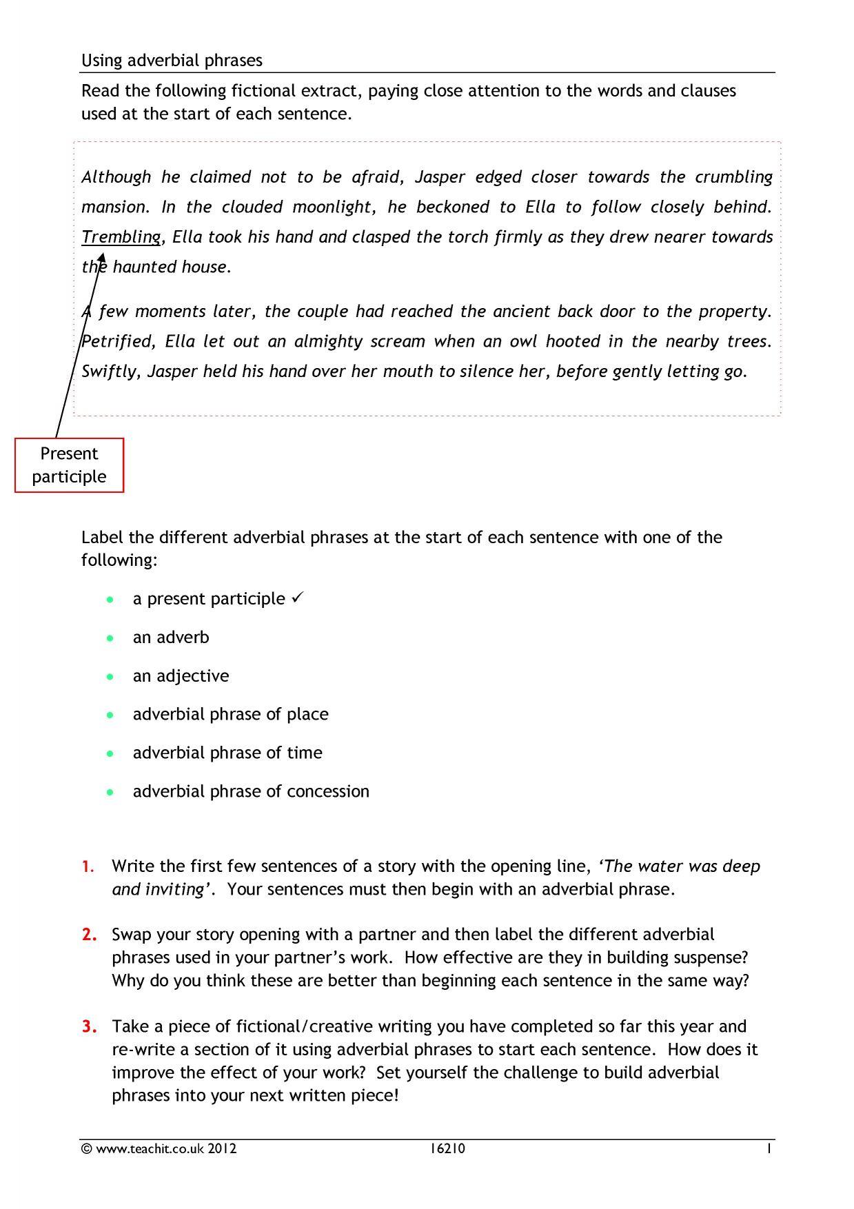 Ks3 Creative Writing Vocabulary