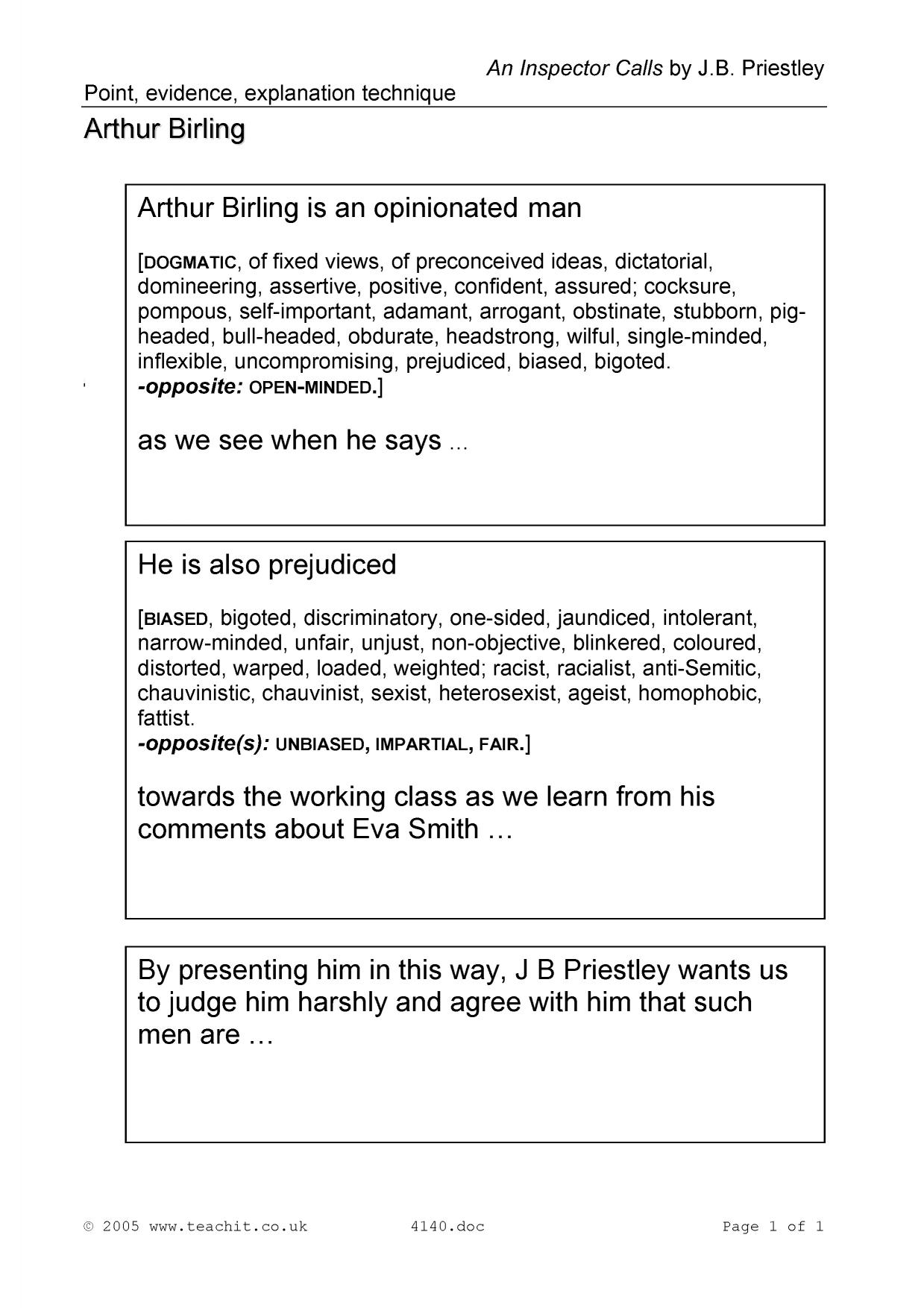 Focusing Listening Worksheet