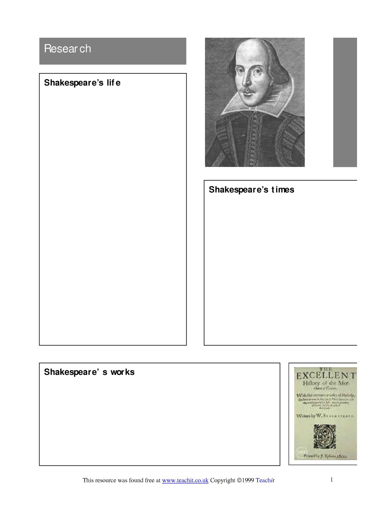 Research Shakespeare Version 2