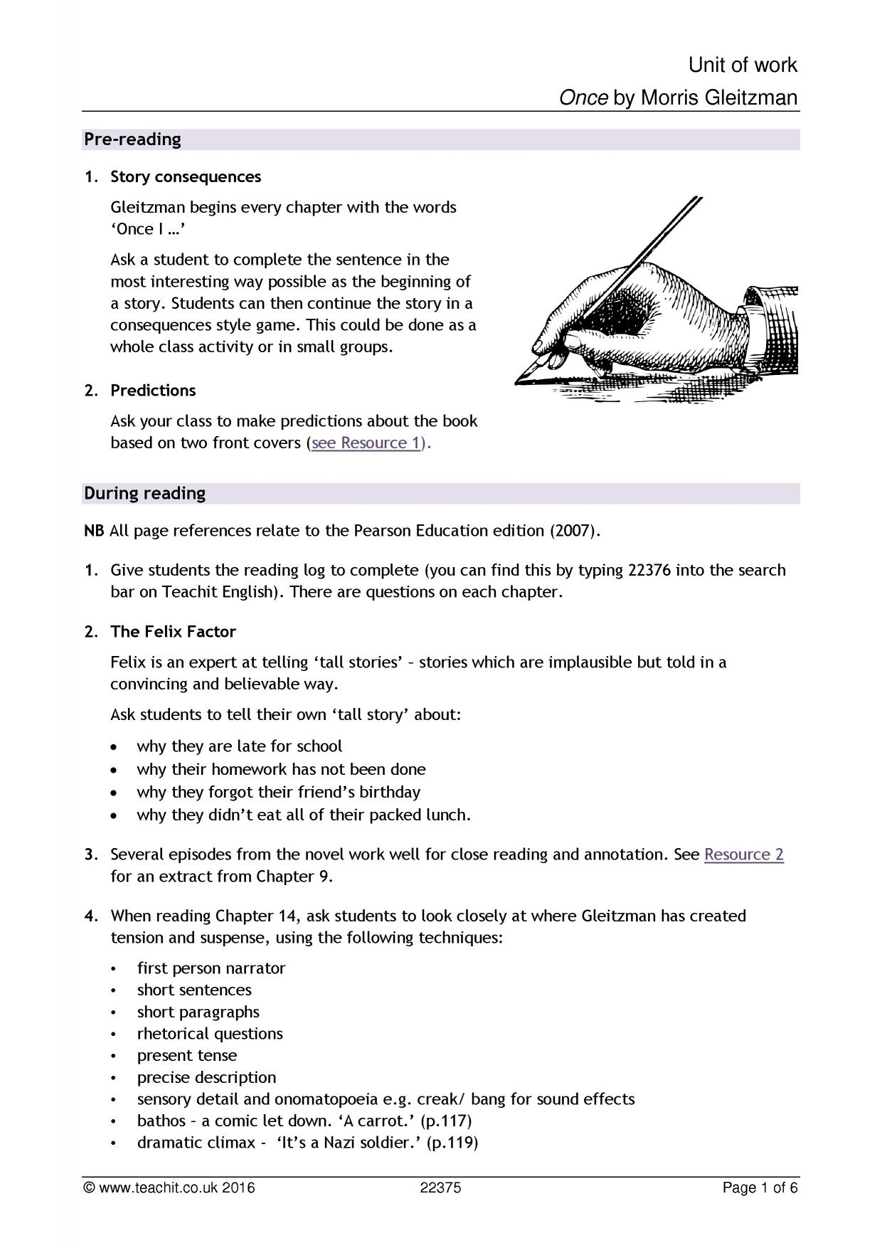 Facing Worksheet English