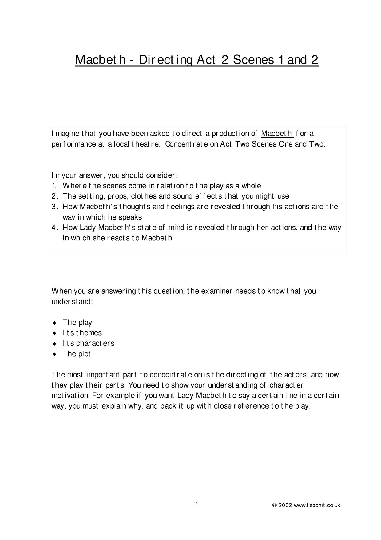 essay questions for macbeth   ivoiregion exam essay questions macbeth