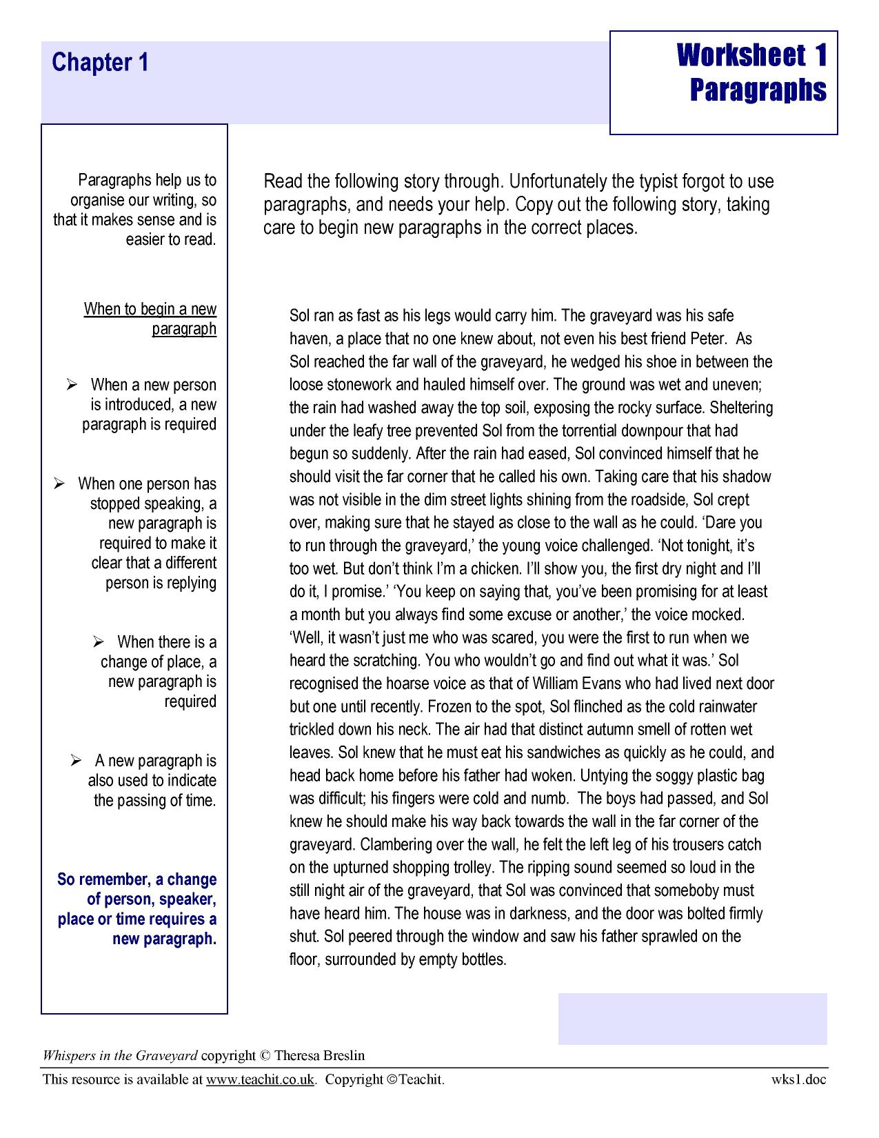 Year 6 Creative Writing Worksheets