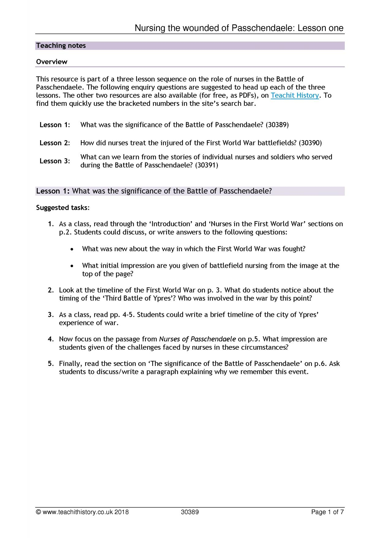 World War 1 Worksheets The Human Cost Of War The