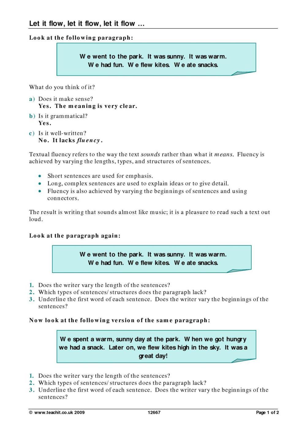 medium resolution of KS4 Grammar and vocabulary   Sentence construction   Teachit English