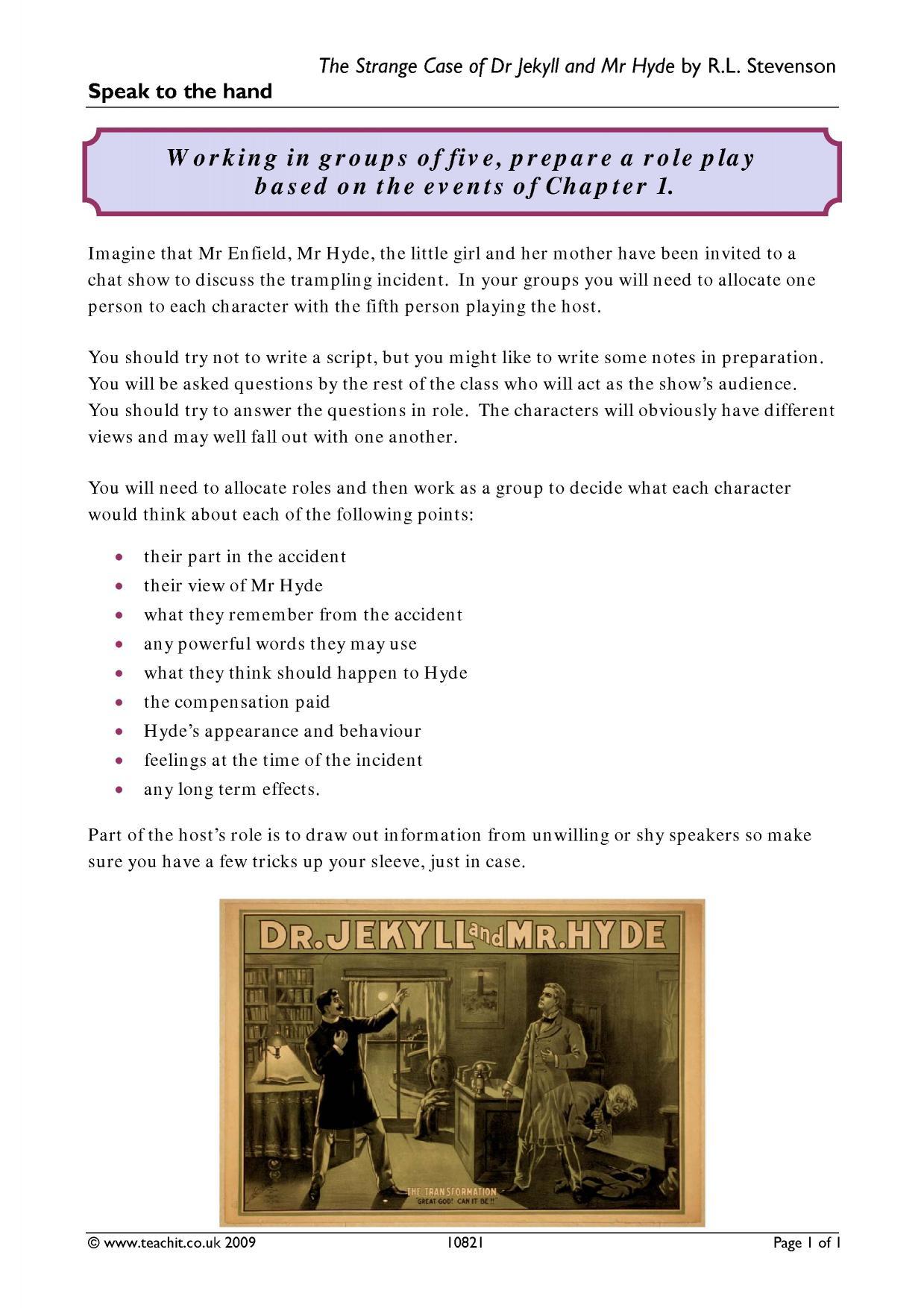 Dr Jekyll And Mr Hyde The Strange Case Of By Robert Louis Stevenson