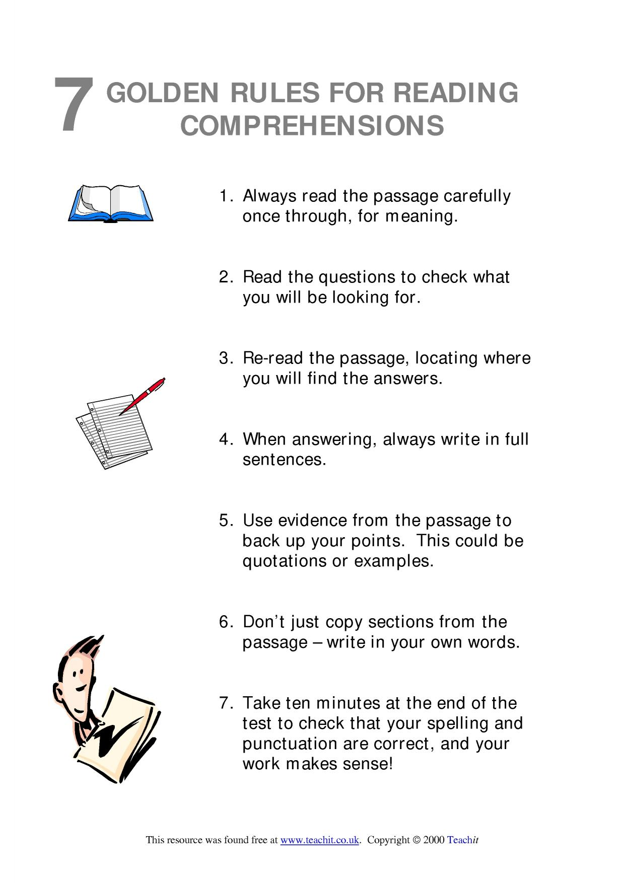 Comprehension Passages For Grade 7 With Questions