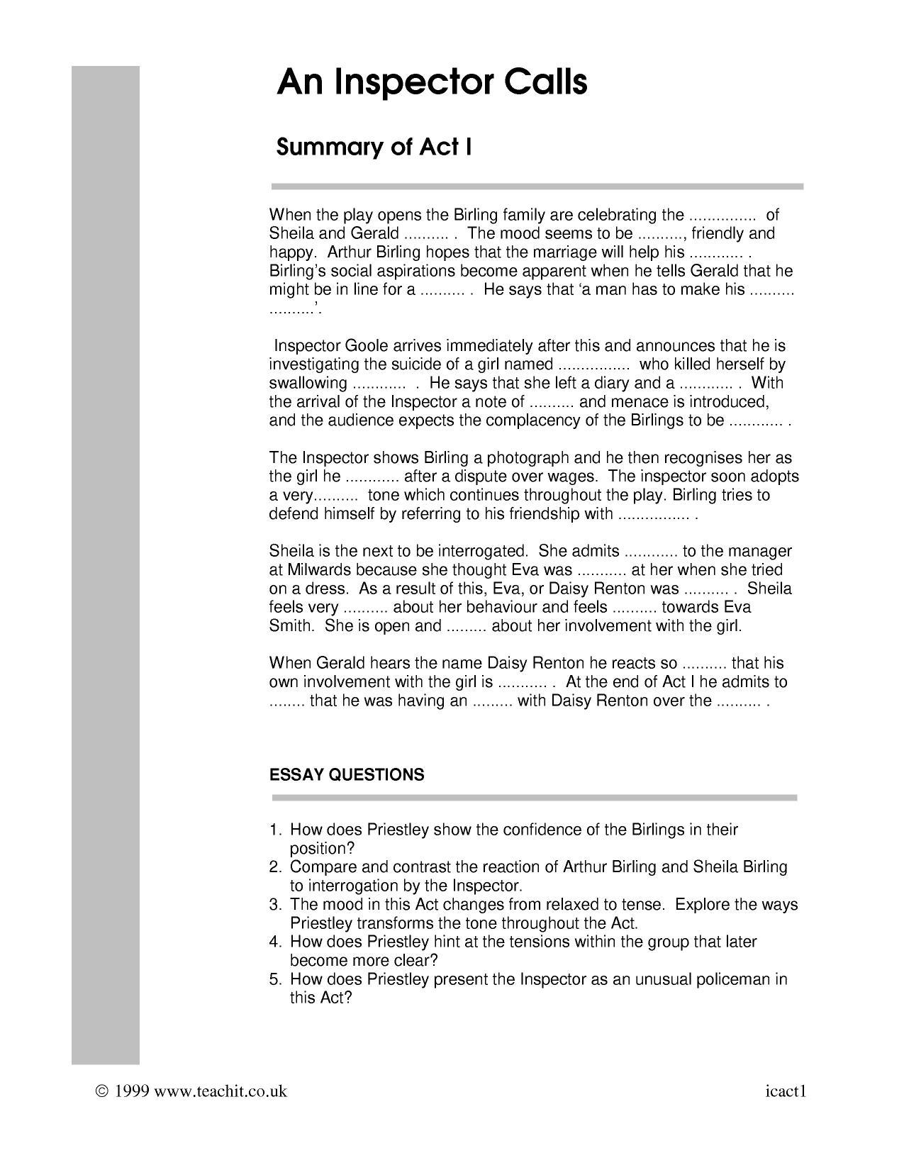 Act 1 Activities