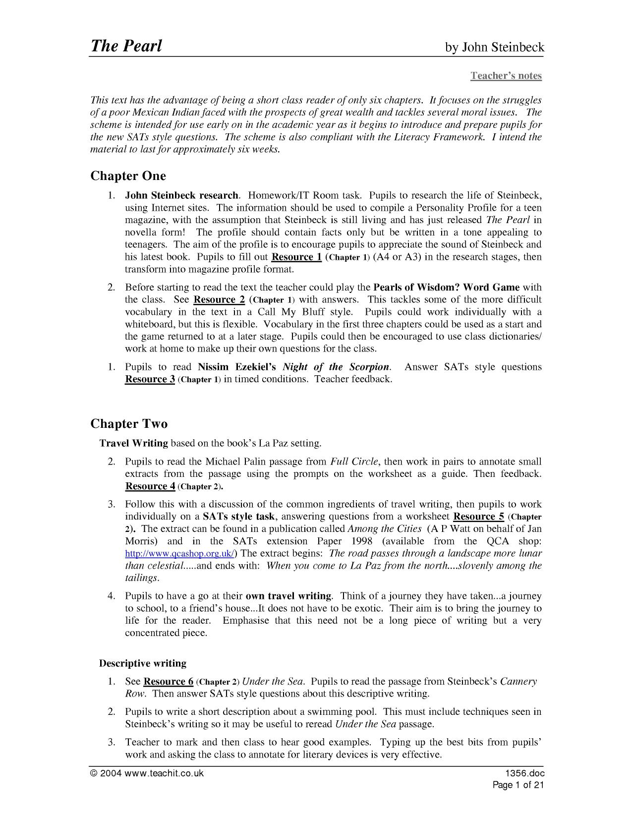 Teacher S Guide And Worksheets