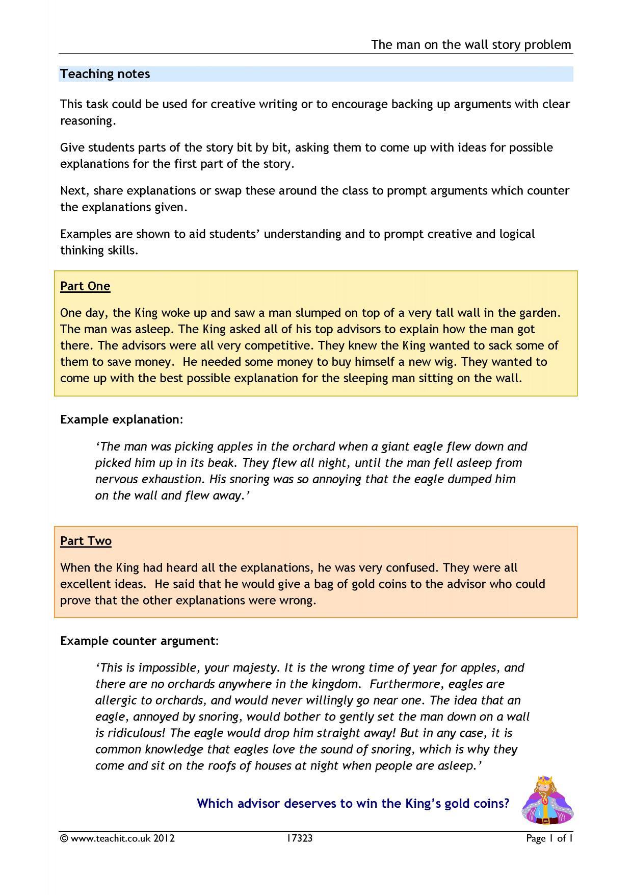 Counter Argument Worksheet