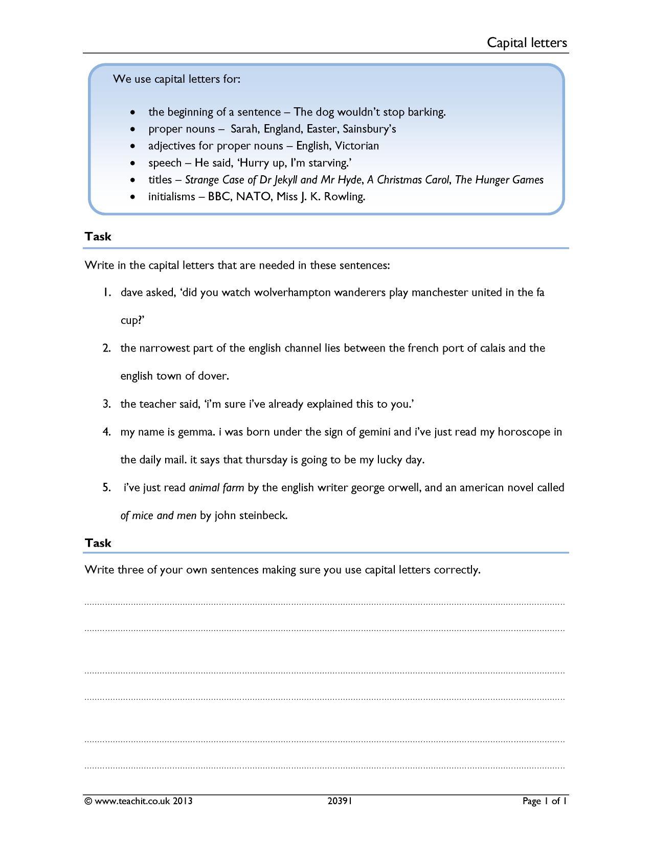 Ks3 English Worksheets Printable