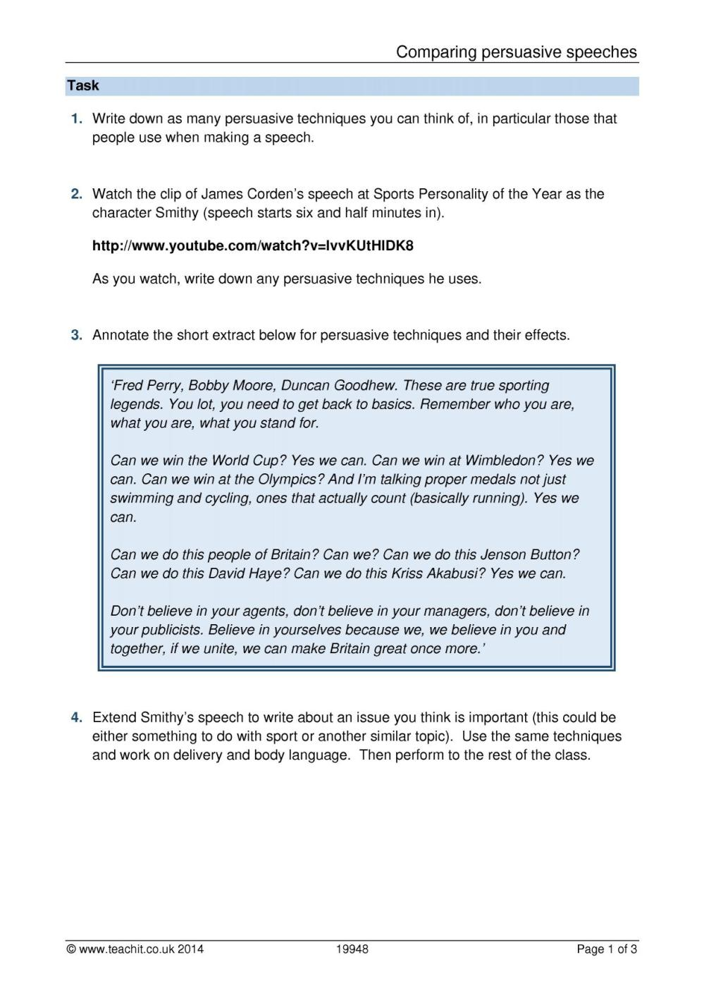 medium resolution of KS3 Writing   Argument and persuasive writing   Teachit English