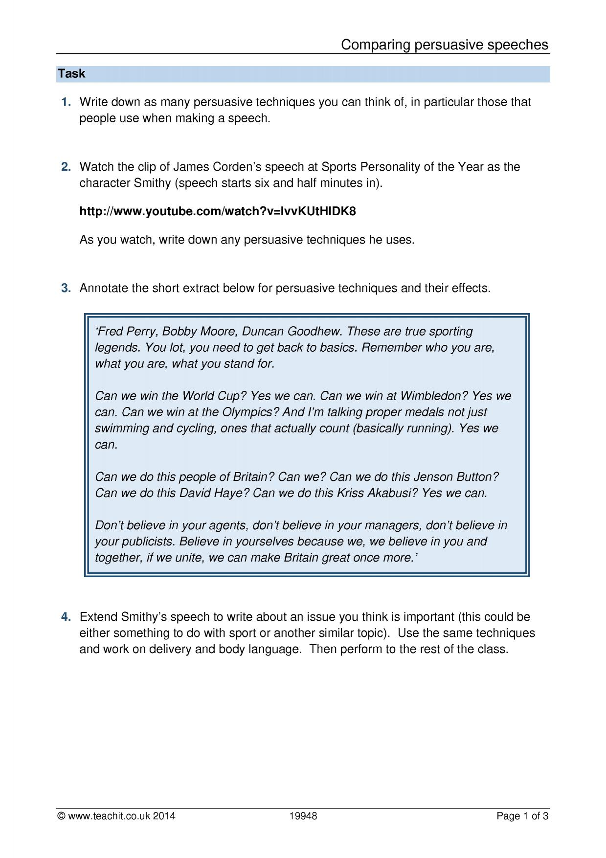 hight resolution of KS3 Writing   Argument and persuasive writing   Teachit English