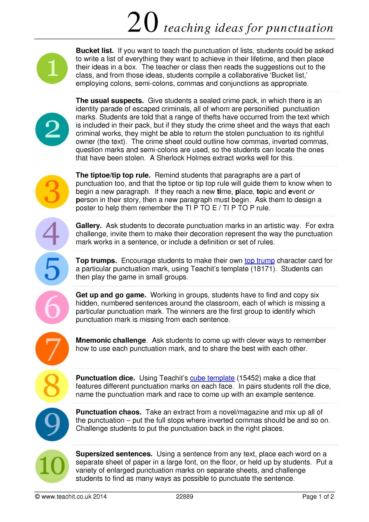 hight resolution of Capitals And Punctuation Worksheets   Printable Worksheets and Activities  for Teachers