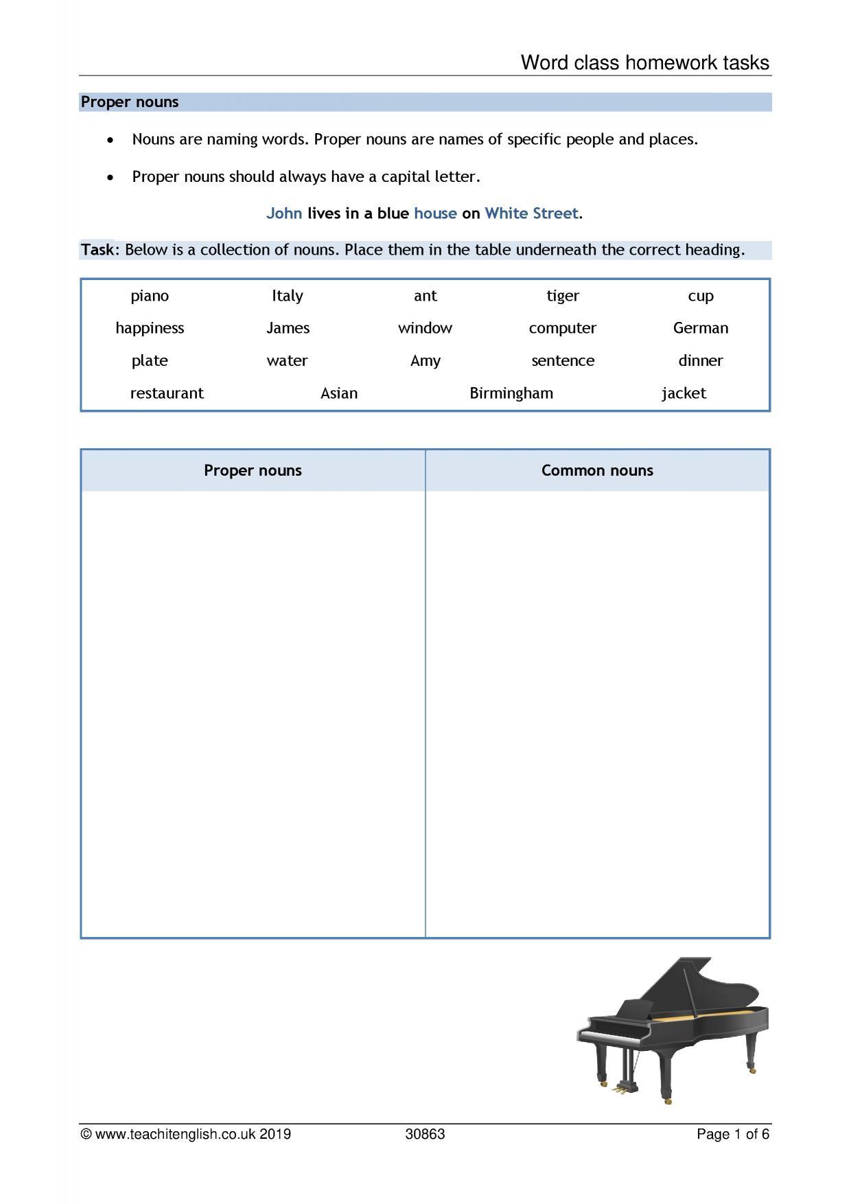 Grammar Worksheet University
