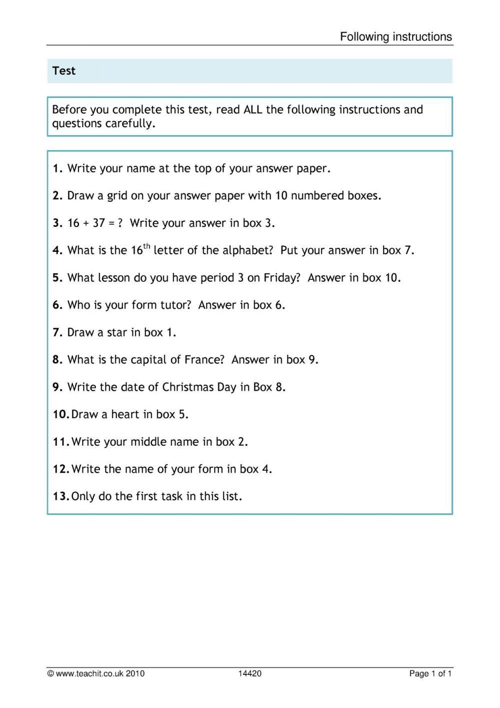 medium resolution of KS3 Reading   Comprehension   Teachit English