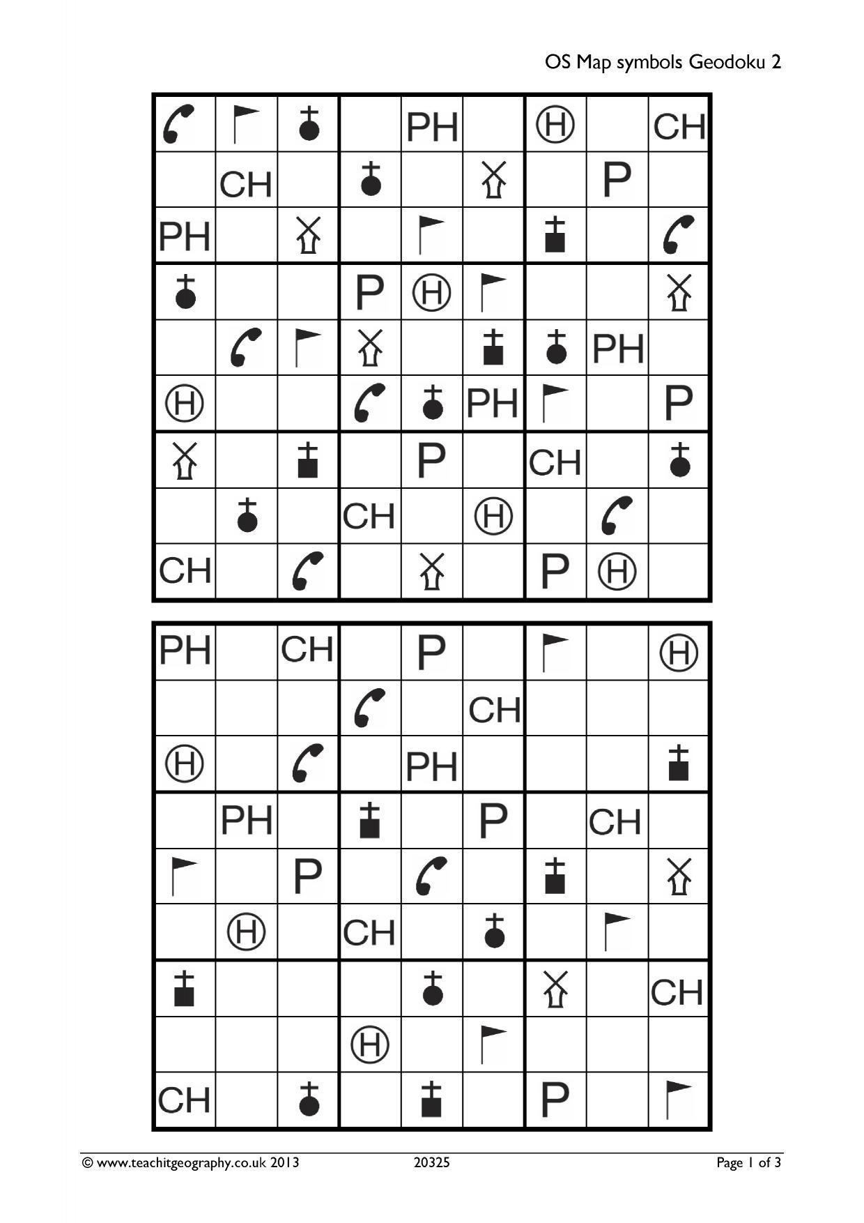 OS map symbols geodoku 2