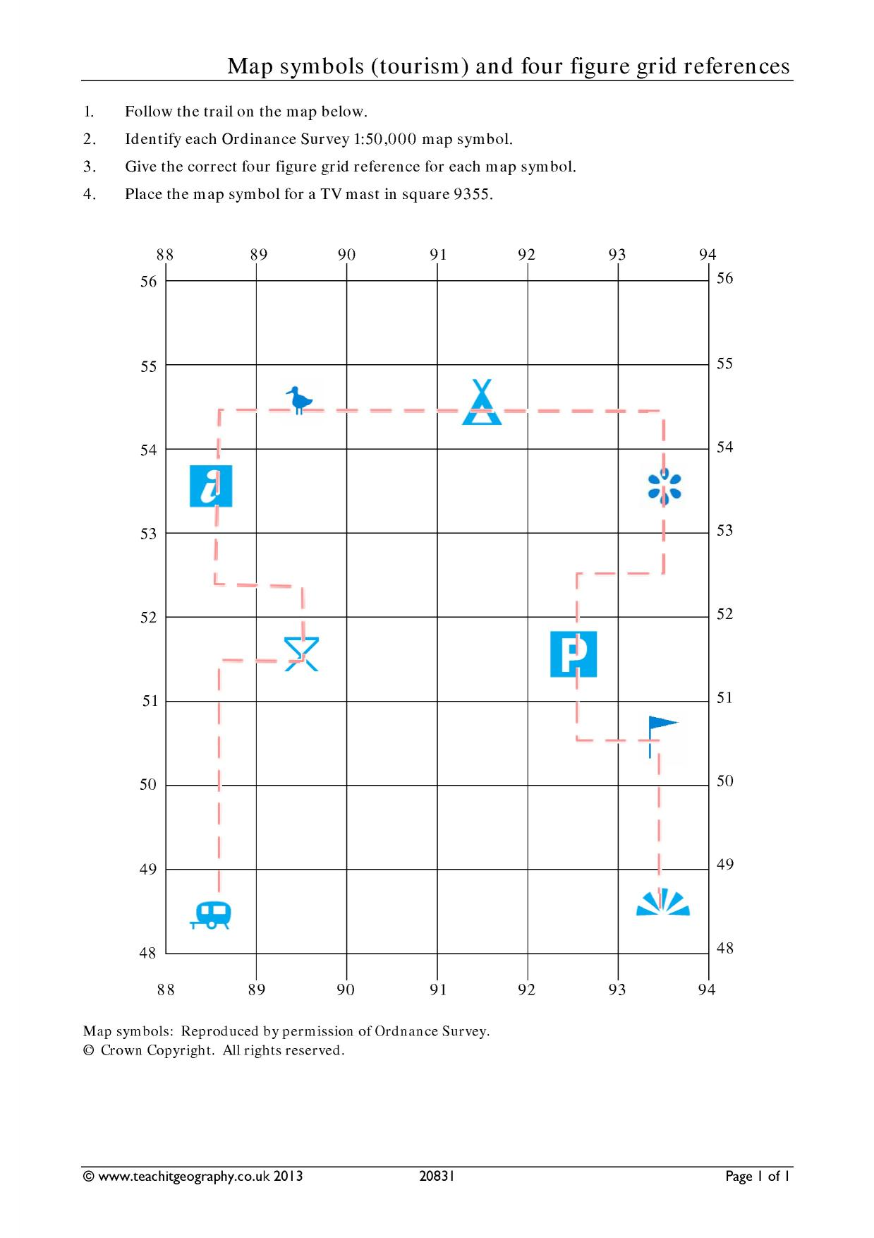 Four Figure Grid References Ks2 F Fp