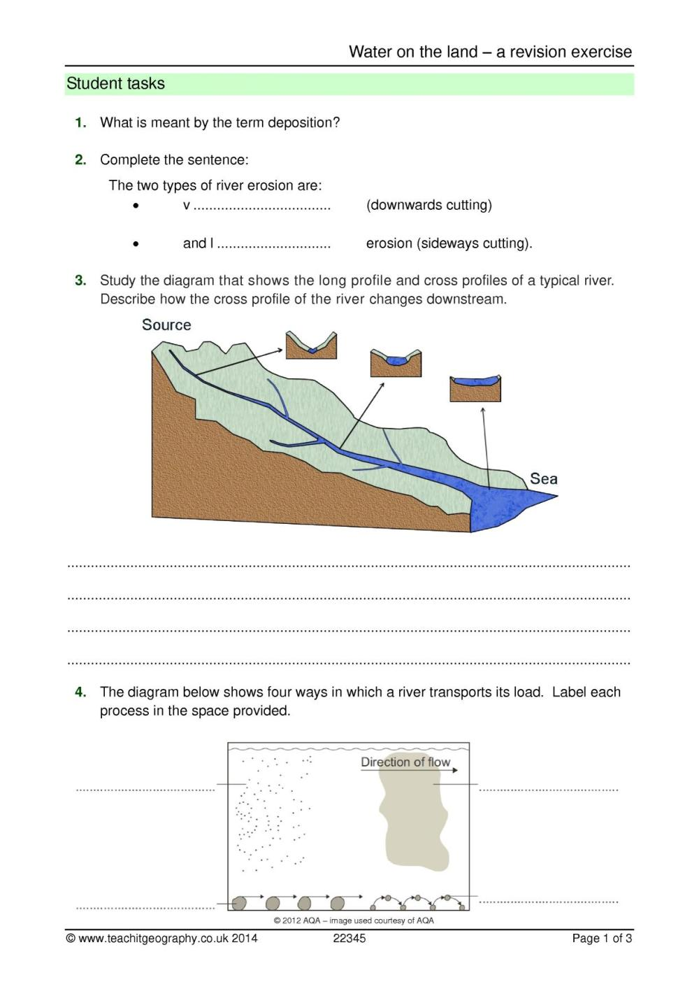 medium resolution of ks4 rivers teachit geography blank plant cell diagram to label label a river diagram