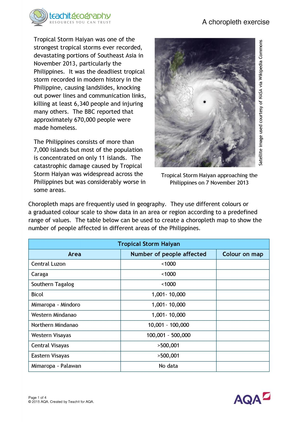 Tropical Storms Gcse Teaching Pack