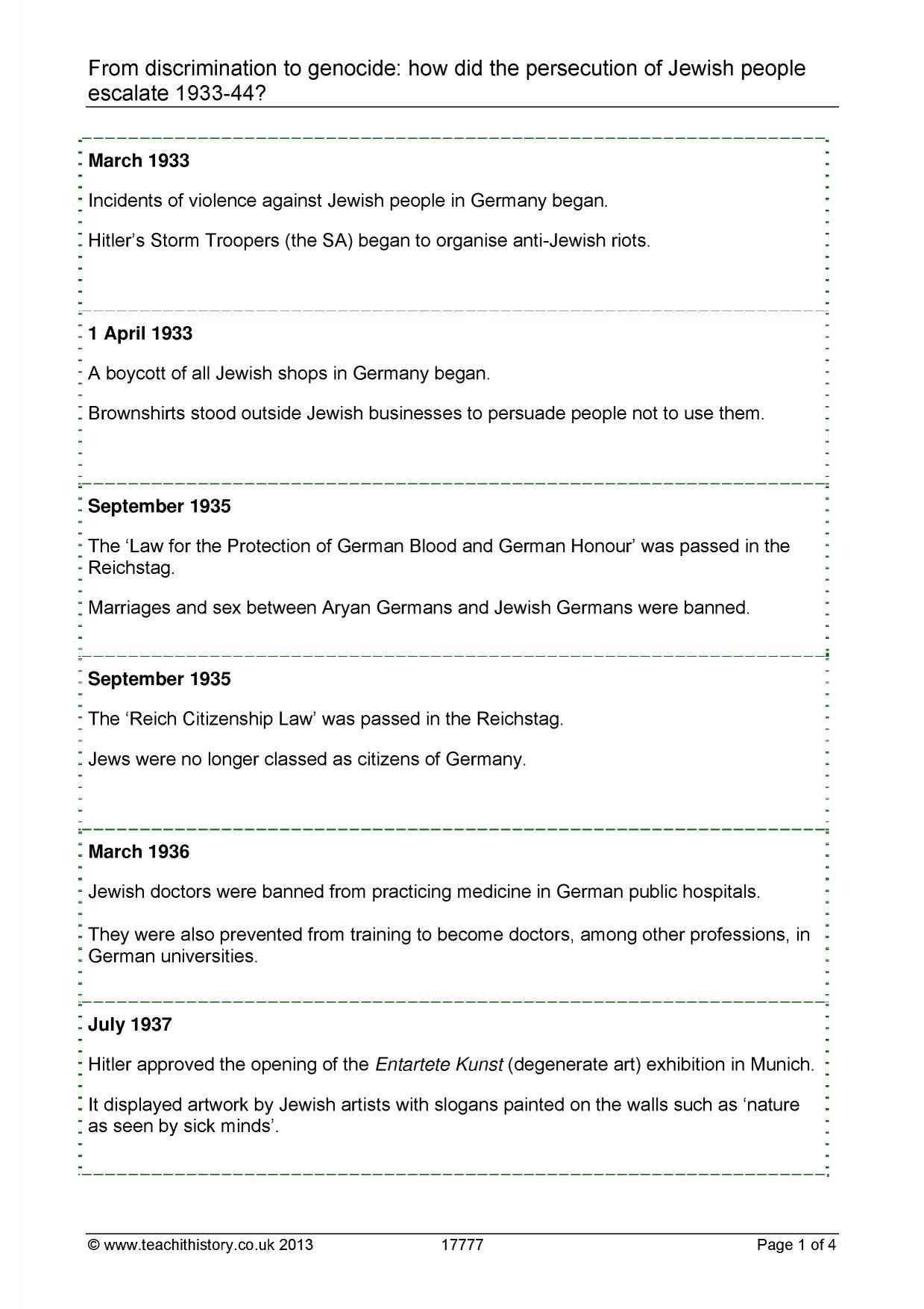 Worksheet Holocaust Worksheet Grass Fedjp Worksheet