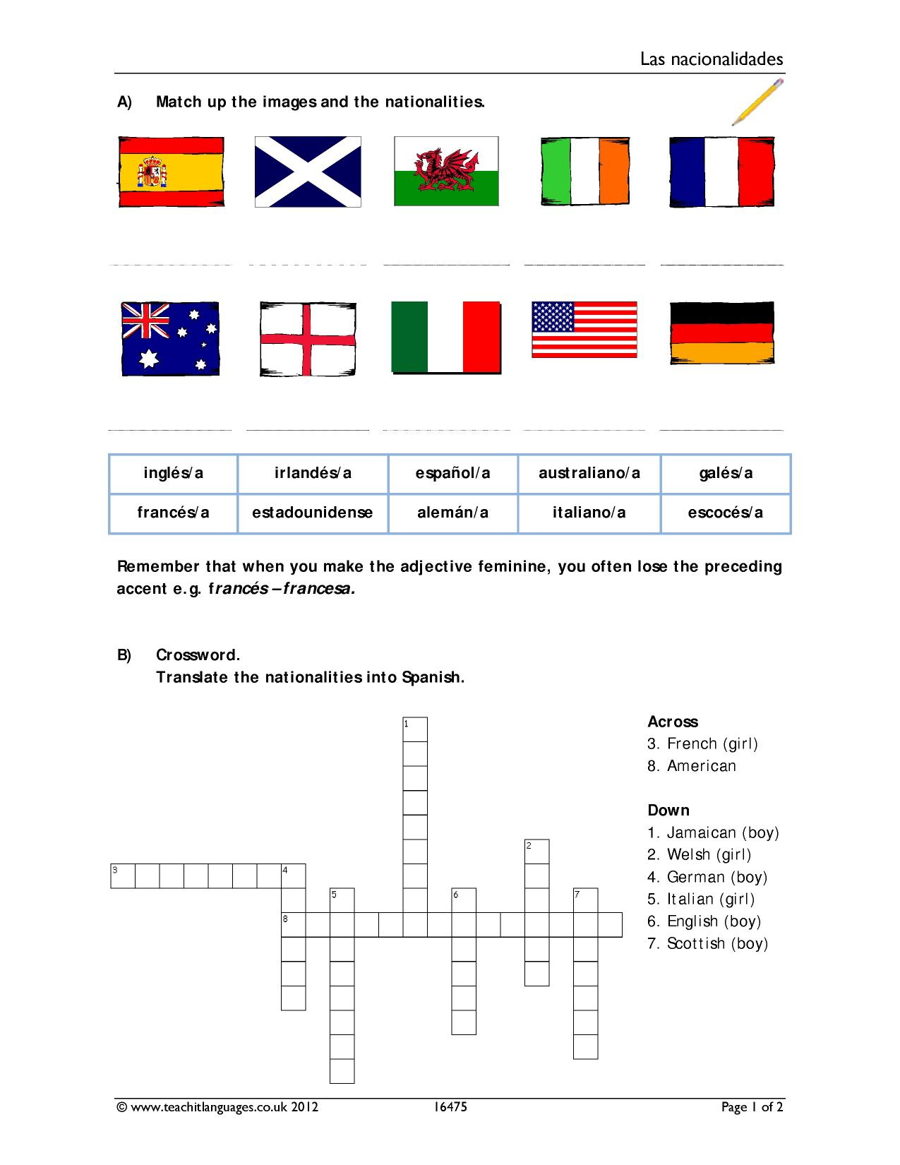 Warm Up Worksheet Geography Terms