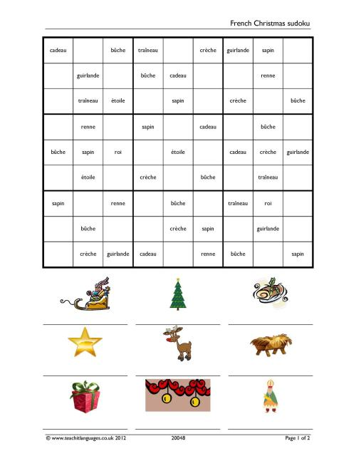 small resolution of Christmas resources - Teachit Languages