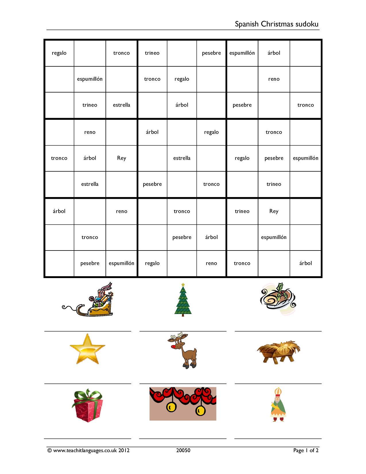 Spanish Christmas Sudoku
