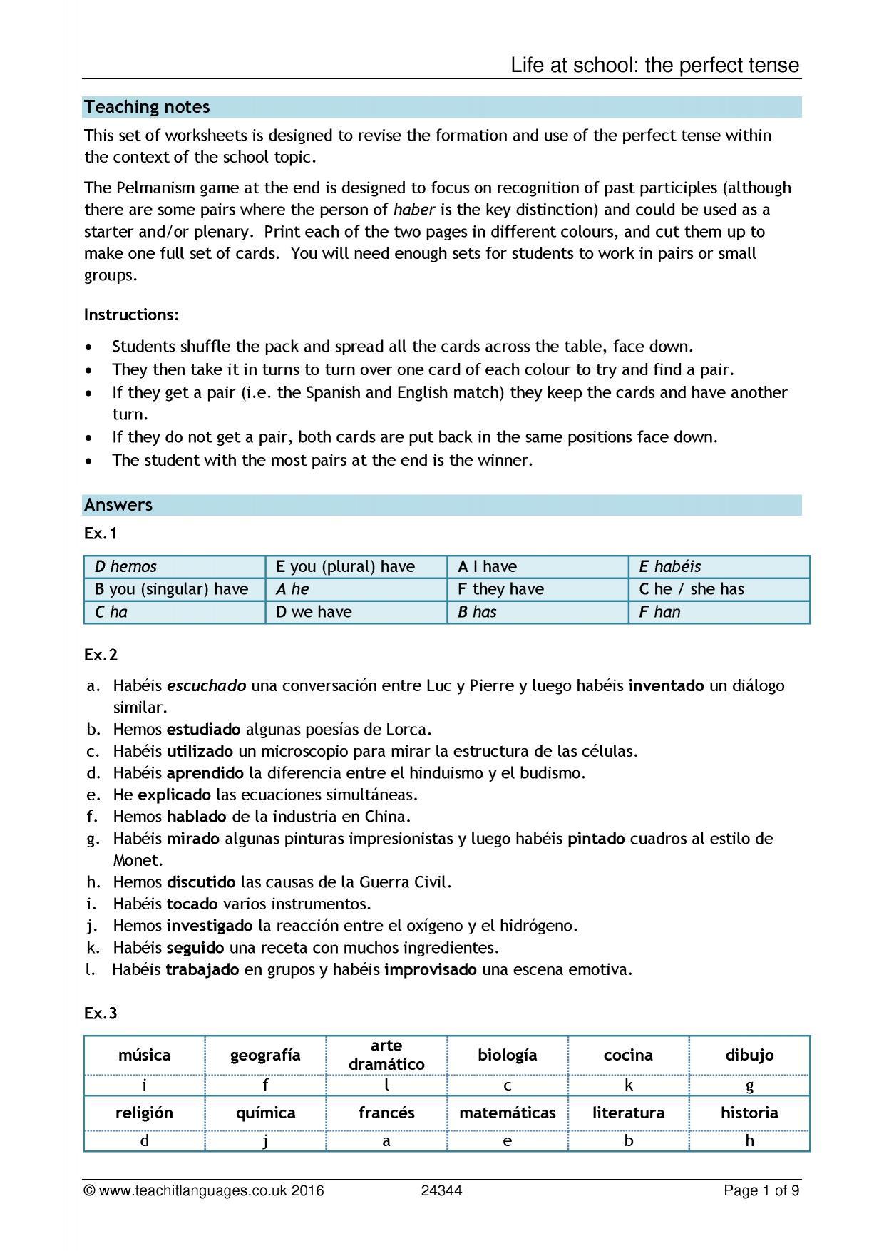 Gcse A Level Spanish Teaching Resources