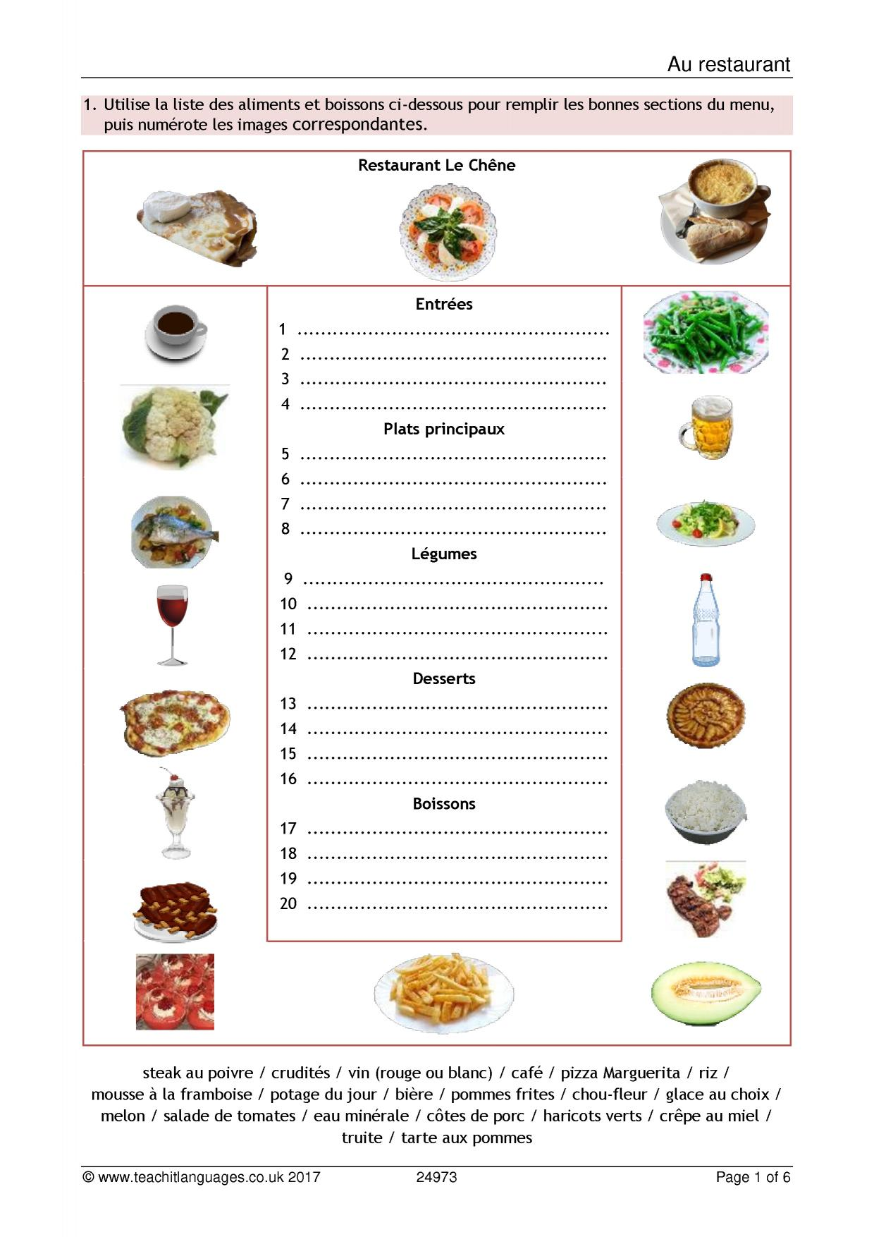 Spanish Fruits Worksheets For Beginners