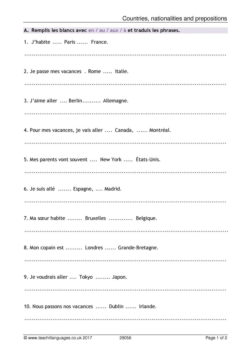 medium resolution of Ma Famille Worksheet French Pdf   Printable Worksheets and Activities for  Teachers