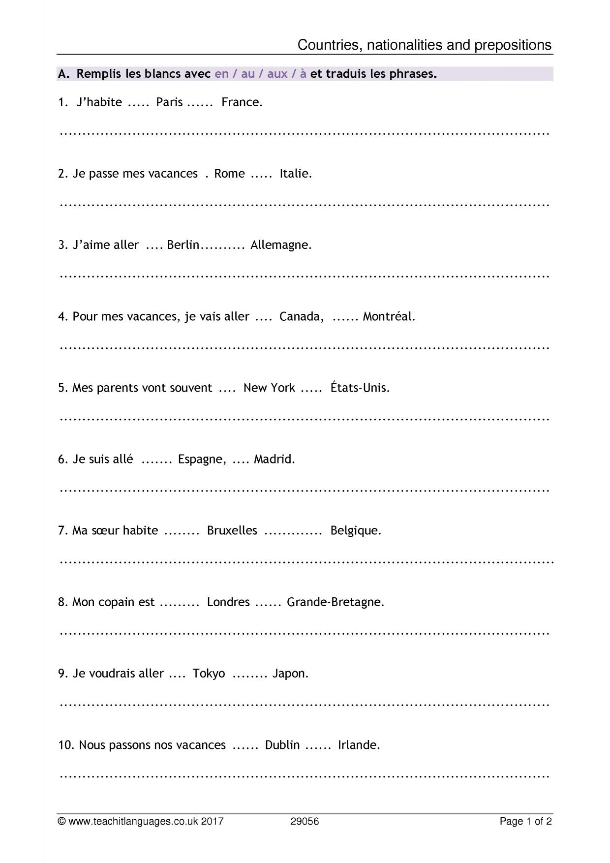 hight resolution of Ma Famille Worksheet French Pdf   Printable Worksheets and Activities for  Teachers