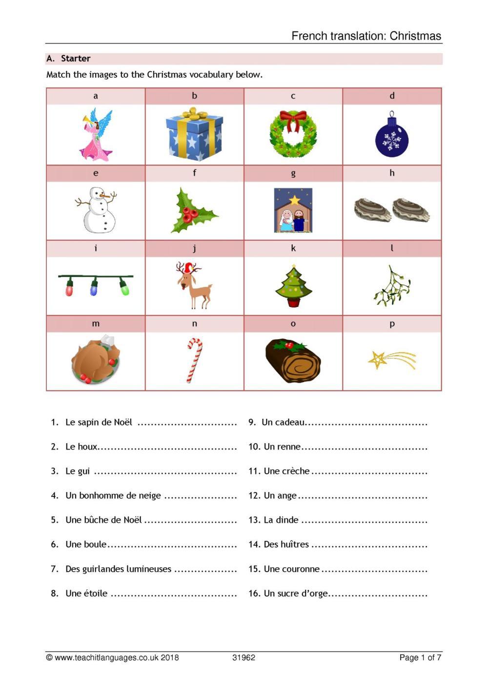 medium resolution of Christmas resources - Teachit Languages