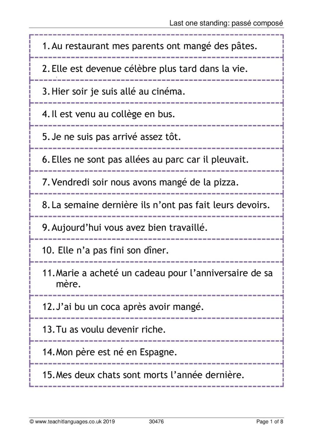 medium resolution of KS3 French   Verbs and tenses   Teachit Languages