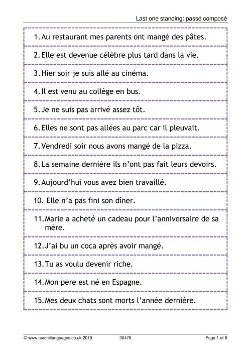 small resolution of KS3 French   Verbs and tenses   Teachit Languages