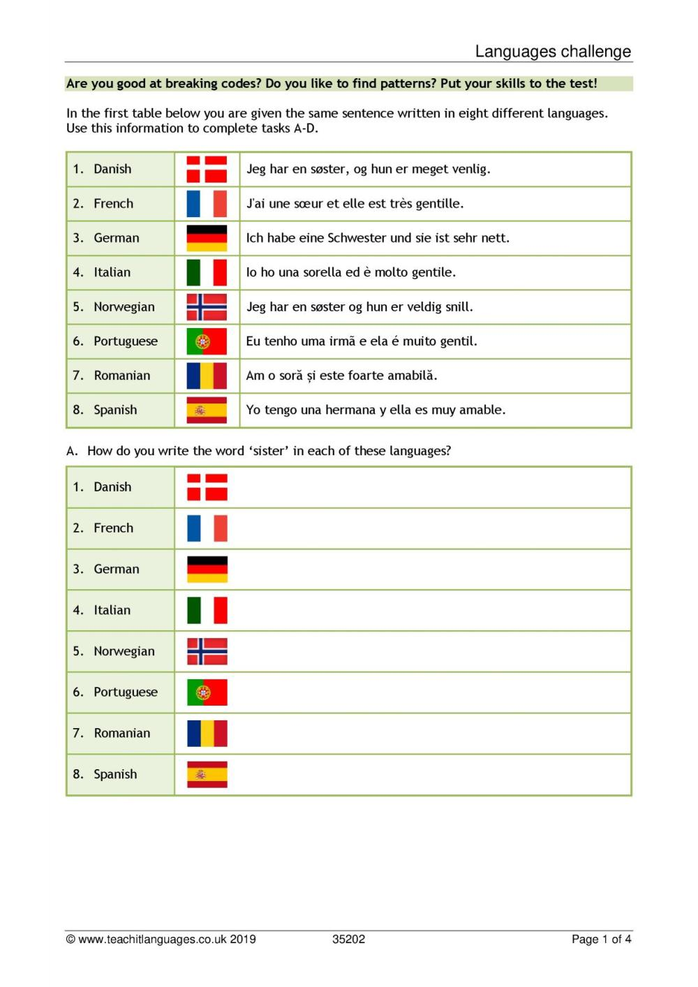 medium resolution of French language teaching resources   TeachIt Languages - Teachit Languages
