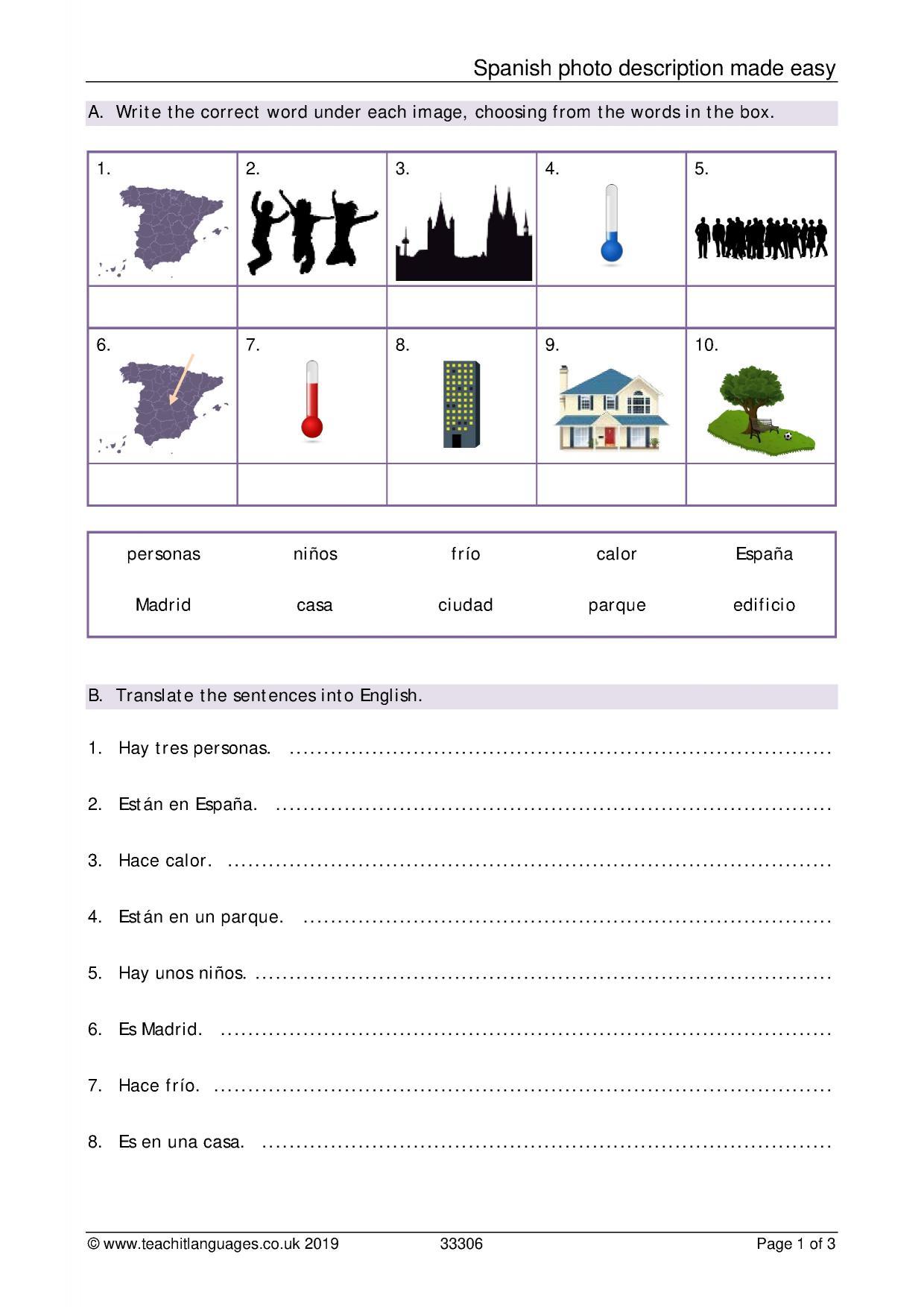 Las Partes De La Casa En Espanol Worksheet