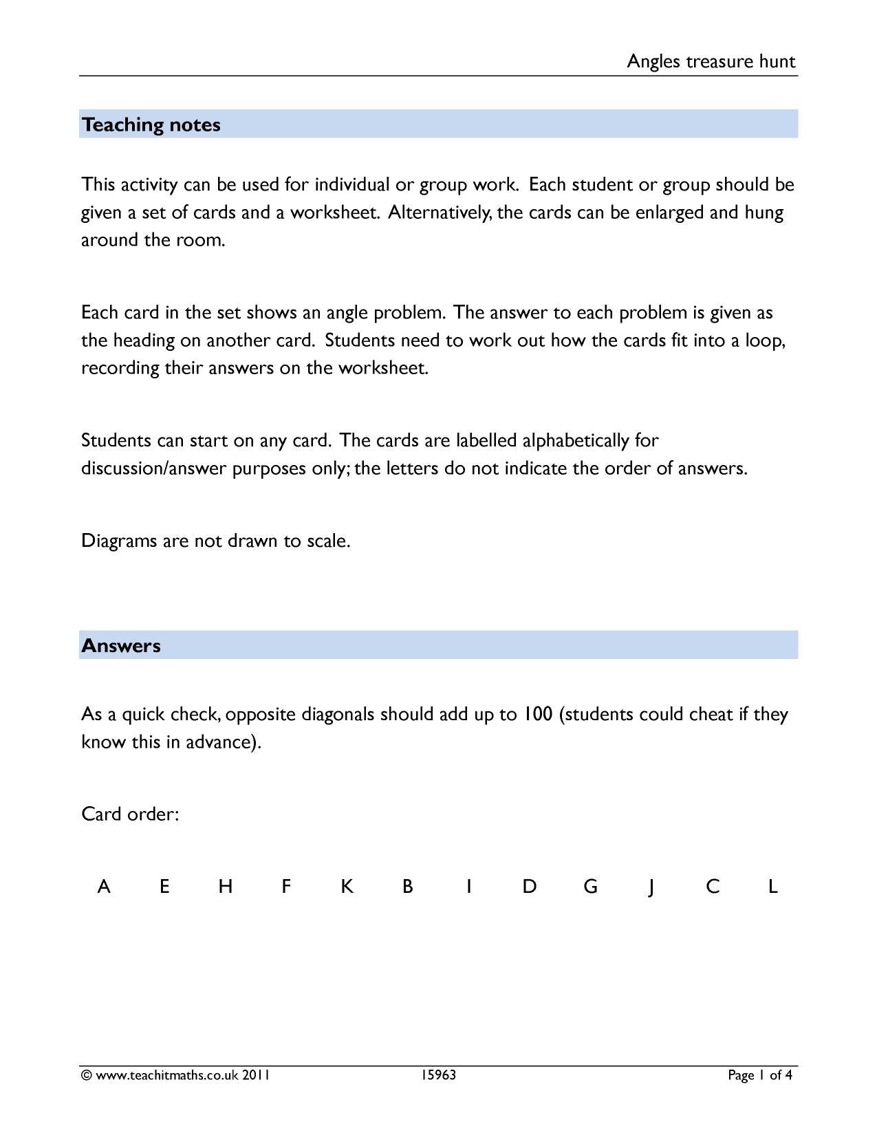 Vector Treasure Hunt Math Worksheet Vector Best Free Printable Worksheets