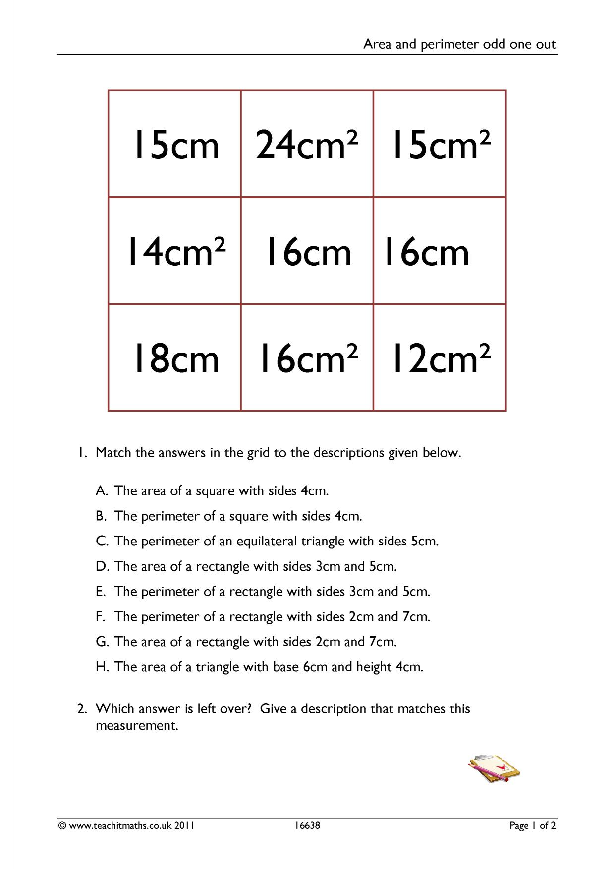 Area And Perimeter Polygons