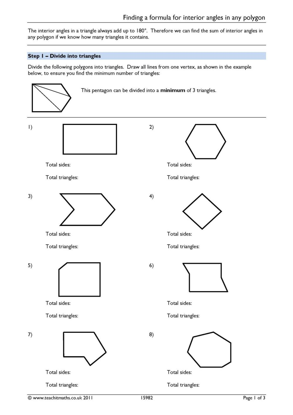 medium resolution of Angles – angles in polygons   Teachit Maths