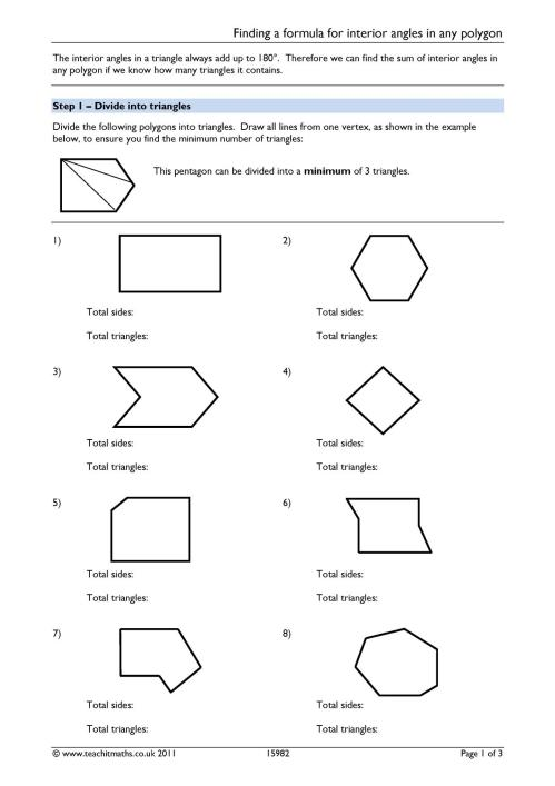 small resolution of Angles – angles in polygons   Teachit Maths