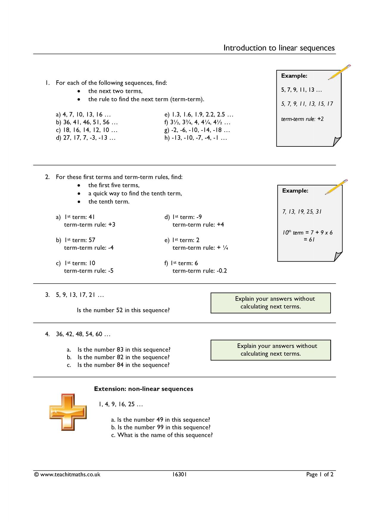 Introduction To Linear Sequences