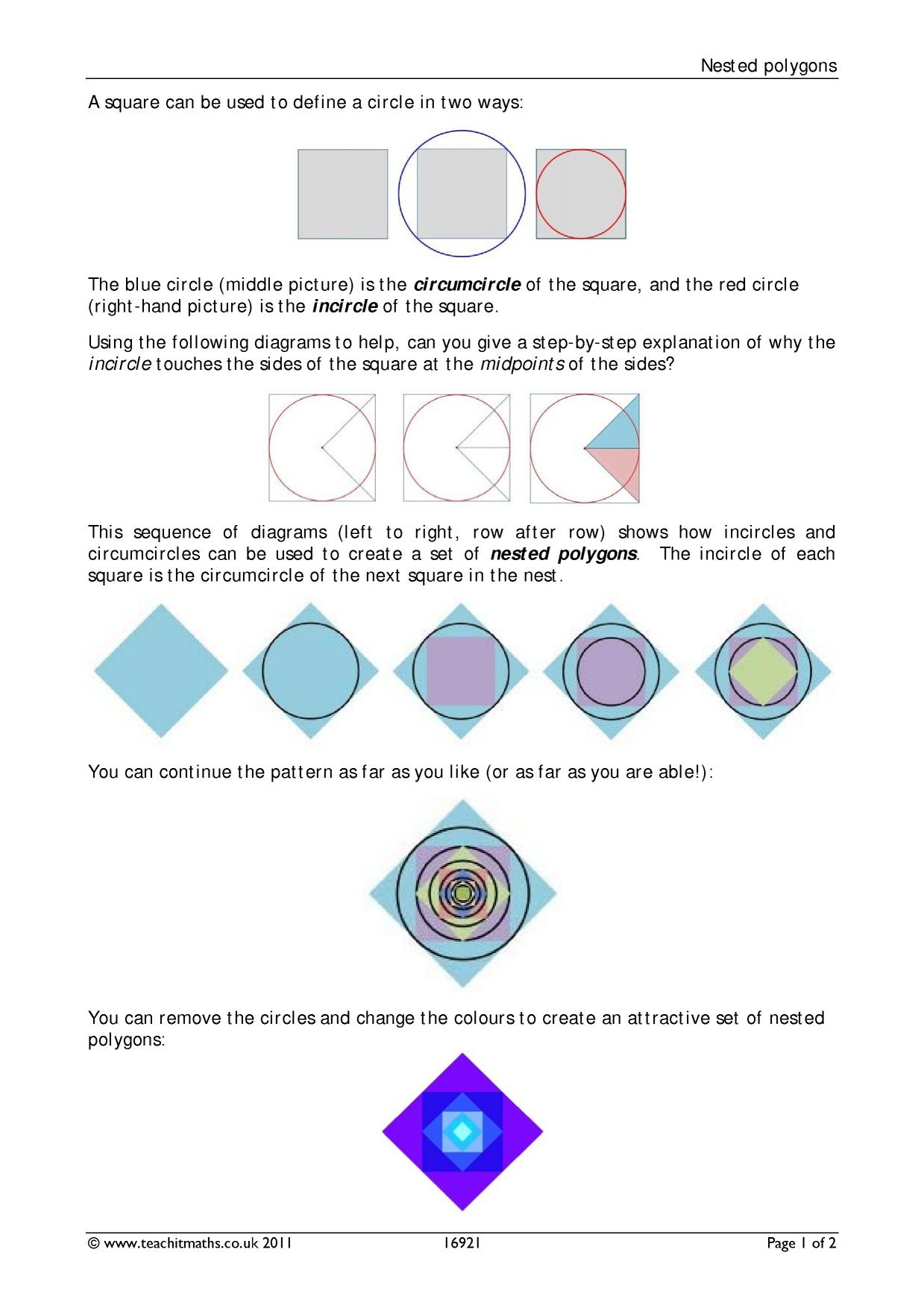2d Shapes Identifying Polygons