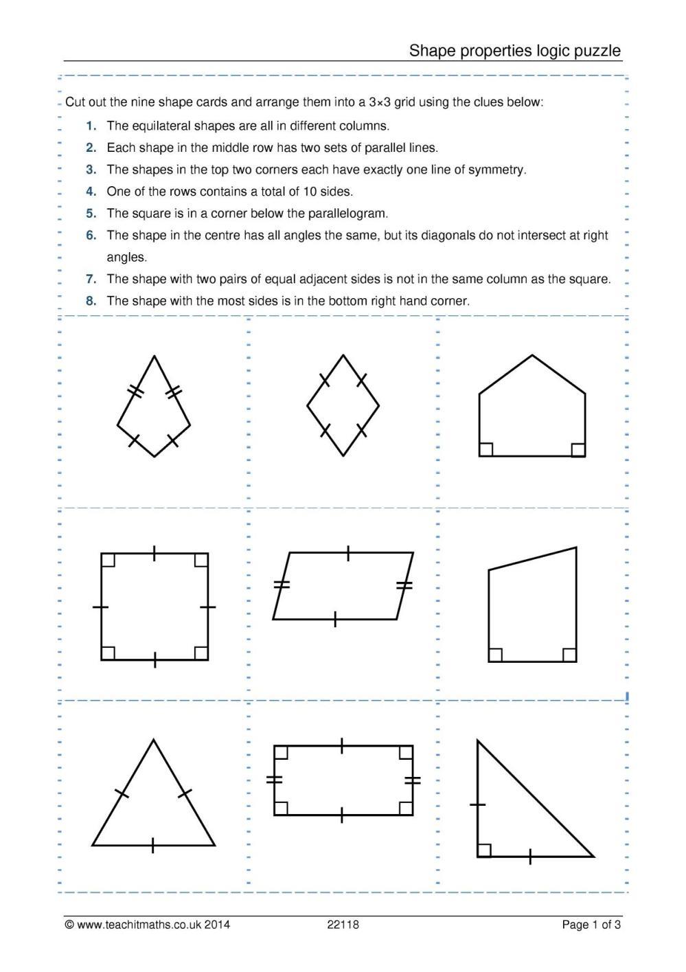 medium resolution of Shape properties logic puzzle