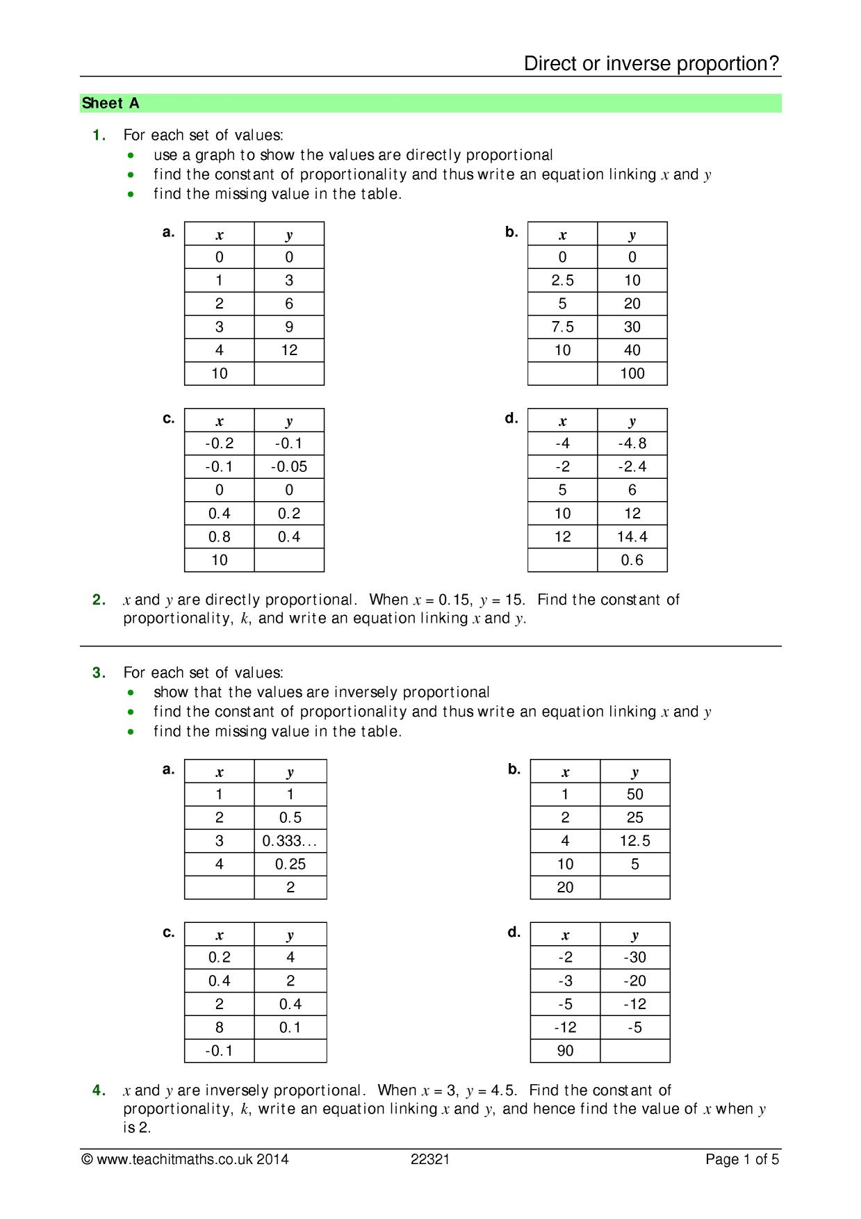 Worksheet Ratios And Rates Examples