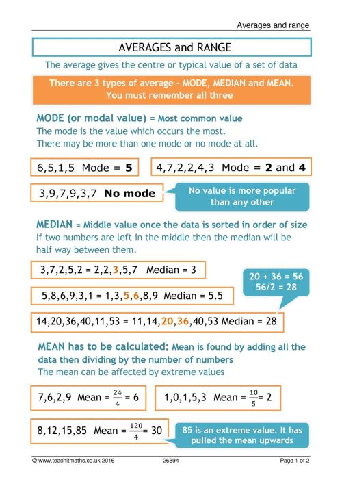 small resolution of Mean Median Mode Coloring Worksheet   Printable Worksheets and Activities  for Teachers