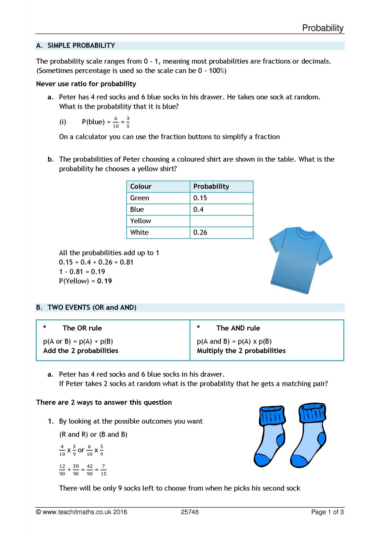 Probability Resources Ks4 Maths Resources
