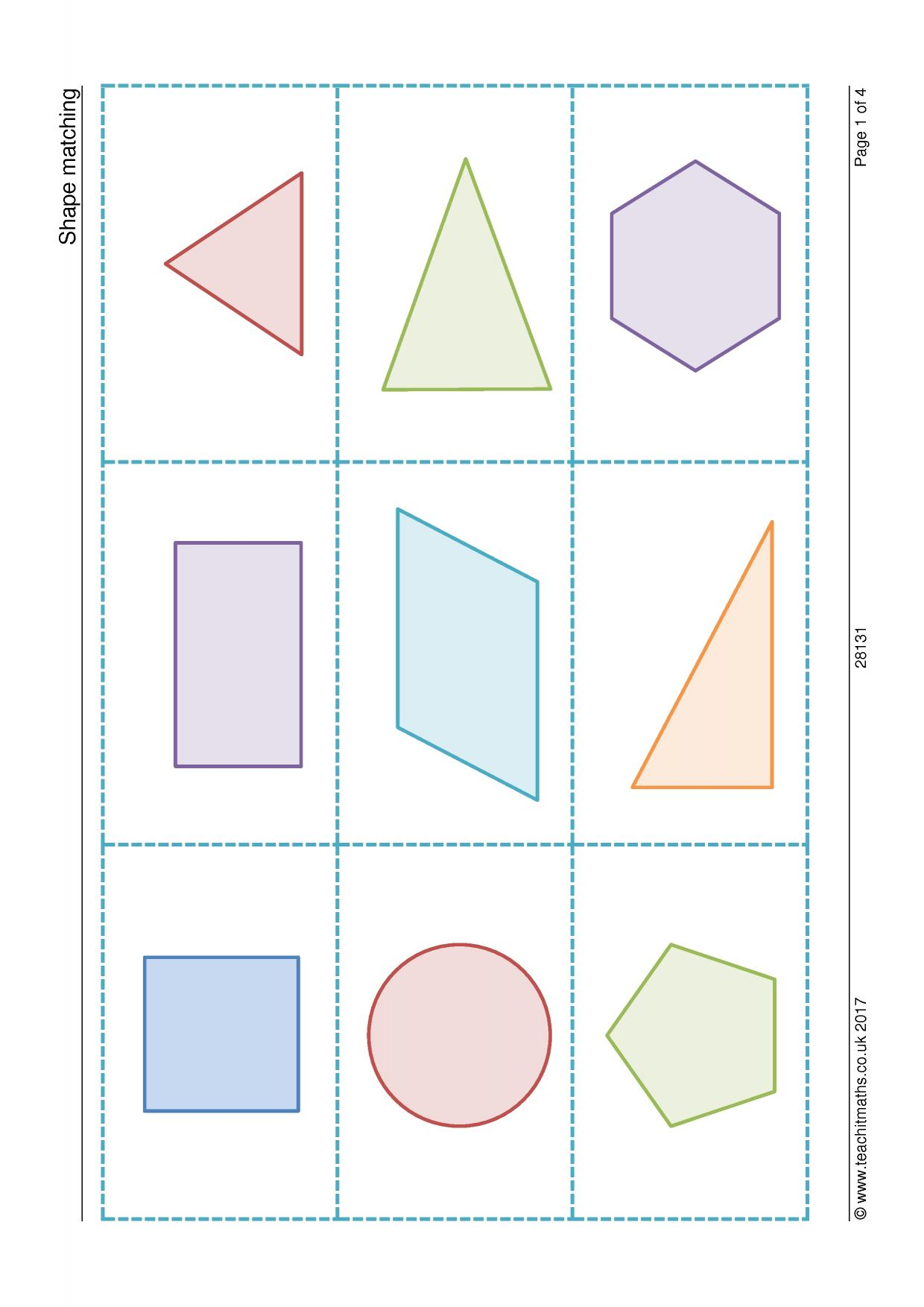 Worksheet Geometric Shapes Identify
