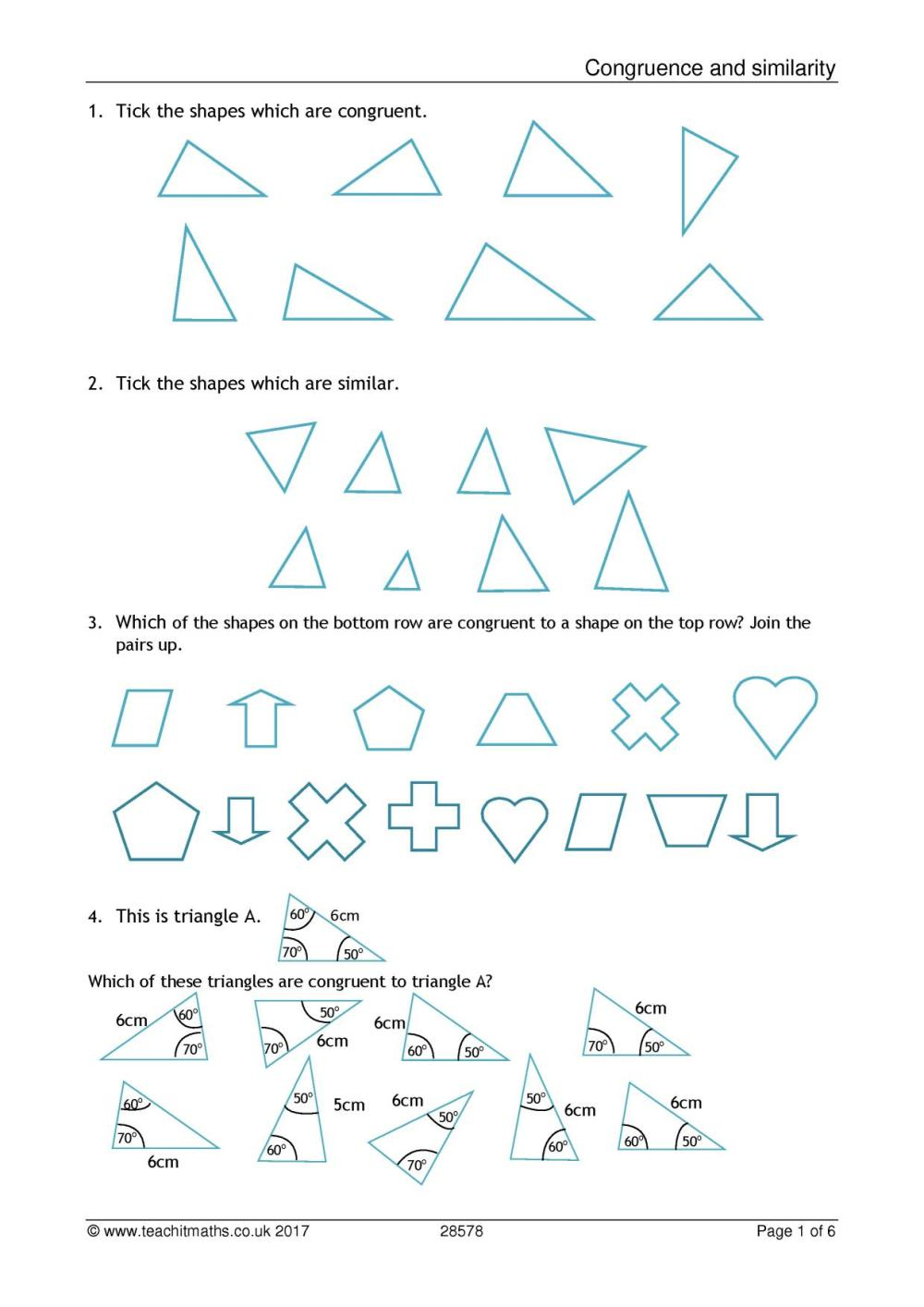 medium resolution of 32 Congruence And Similarity Worksheet With Answers - Worksheet Resource  Plans