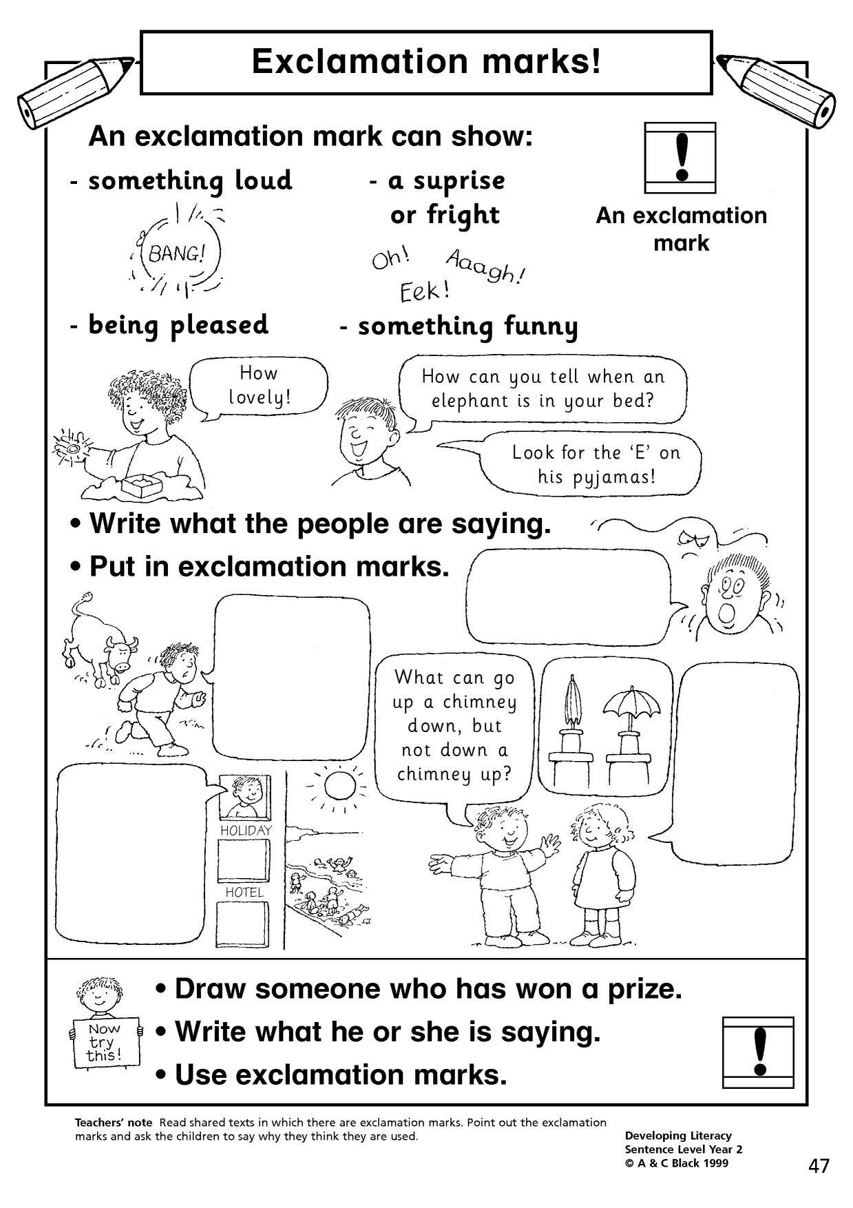 hight resolution of EYFS   KS1   KS2   Basic punctuation   Teachit Primary